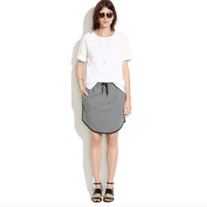 Madewell Gray Sweatshirt Skirt